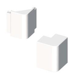 Ángulo exterior blanco para canal electrico Unex 40x90 libre de halogenos