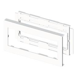Marco para mecanismos blanco para canal porta cables Unex 90 libre de halogenos