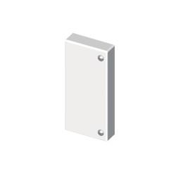 Tapa final blanco para canal portacable Unex 60x110 libre de halogenos