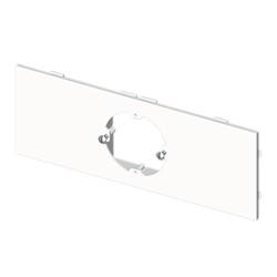 Placa mecanismos universales (1 mec) blanco para canal porta cables Unex libre de halogenos