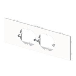 Placa mecanismos universales (2 mec) blanco para canal porta cables Unex libre de halogenos