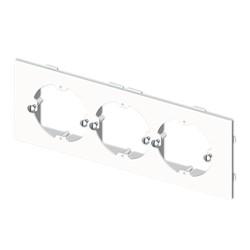 Placa mecanismos universales (3 mec) blanco para canal porta cables Unex libre de halogenos