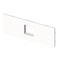 Placa mecanismos Mosaic 45 (2 modulos) blanco para canal porta cables Unex libre de halogenos