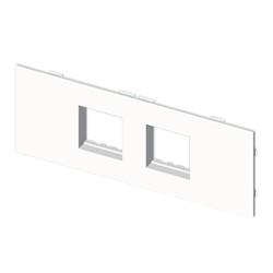 Placa mecanismos Mosaic 45 (4 modulos) blanco para canal porta cables Unex libre de halogenos