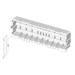 Placa mecanismos Mosaic 45 (6 modulos) blanco para canal porta cables Unex libre de halogenos
