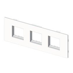 Placa mecanismos Simón 27 (6 modulos.) blanco para canal porta cables Unex libre de halogenos