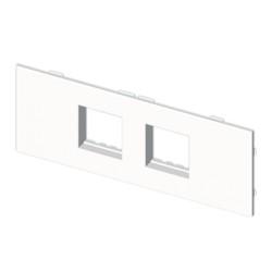 Placa mecanismos Stylo(4 modulos) blanco para canal porta cables Unex libre de halogenos
