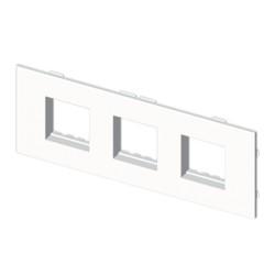 Placa mecanismos Stylo(6 modulos) blanco para canal porta cables Unex libre de halogenos