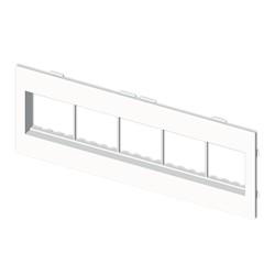 Placa mecanismos Mosaic 45 (10 modulos) blanco para canal porta cables Unex libre de halogenos