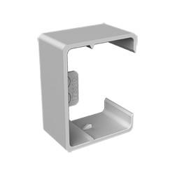 Cubrejuntas gris para canal porta cables Unex 30x40 en pvc