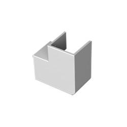 Ángulo plano gris para canal aislante Unex 40x40 en pvc