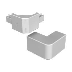 Ángulo exterior gris para canal electrico Unex 40x40 en pvc