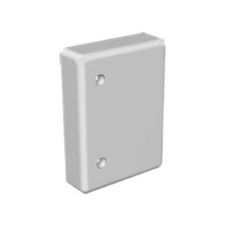Tapa final gris para canal portacable Unex 40x60 en pvc