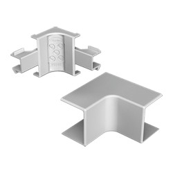 Ángulo interior gris para canal electrico Unex 60x190 en pvc