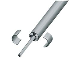 Prolongación columna anodizado gris diametro.50, 1 metro Aluminio