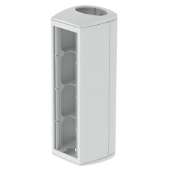 Módulo 4 mecanismos columna 50x88 gris Unex 80 en pvc