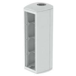 Módulo 4 mecanismos columna diametro.50 gris Unex 80 en pvc