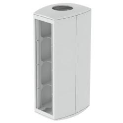 Módulo 8 mecanismos columna diametro. 50 gris Unex 80 en pvc
