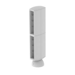Torreta color gris para 16 mecanismos electricos Unex 65 en pvc