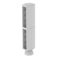 Torreta color gris para 16 mecanismos electricos Unex 80 en pvc