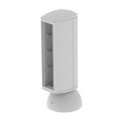 Torreta color gris para 4 mecanismos electricos Unex 65 en pvc