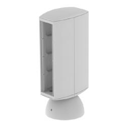 Torreta color gris para 8 mecanismos electricos Unex 65 en pvc