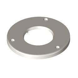 Fijación a suelo gris para guía articulada Unex en pvc