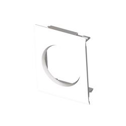 Adaptador modular de guía blanco Unex 80 en pvc