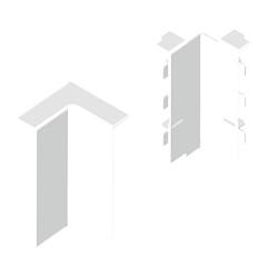 Angulo interior blanco para zocalo de suelo Unex 16x100 en pvc