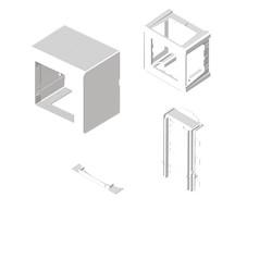 Adaptador mecanismos Mosaic 45 blanco para zocalo de suelo Unex en pvc