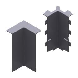 Angulo interior color aluminio para zocalo de suelo Unex 16x100 en pvc