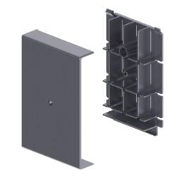 Derivación a Canaleta color aluminio para zocalo de suelo Unex 16x100 en pvc
