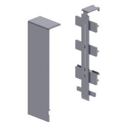 Cubrejuntas color aluminio para zocalo de suelo Unex 16x100 en pvc