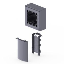 Adaptador mecanismos universal color aluminio para zocalo de suelo Unex en pvc