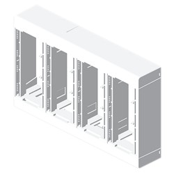Caja 8 mecanismos blanco Unex en pvc
