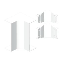 Ángulo interior color aluminio para canal Unex 50x80 en pvc