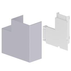 Ángulo plano color aluminio para canal Unex 50x80 en pvc
