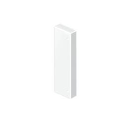 Tapa final color aluminio para canal Unex 50x80 en pvc