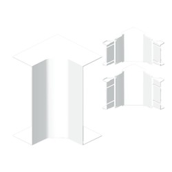 Ángulo interior color aluminio para canal Unex 50x100 en pvc