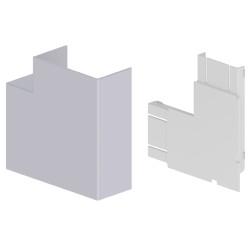 Ángulo plano color aluminio para canal Unex 50x100 en pvc