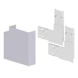 Ángulo plano color aluminio para canal Unex 50x150 en pvc