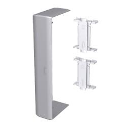 Cubrejuntas color aluminio para canal Unex 50x150 en pvc