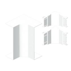 Ángulo interior color aluminio para canal Unex 50x170 en pvc