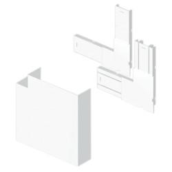 Ángulo plano color aluminio para canal Unex 50x170 en pvc