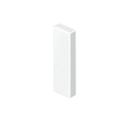 Tapa final color aluminio para canal Unex 50x170 en pvc