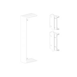 Cubrejuntas color aluminio para canal Unex 50x170 en pvc