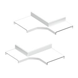 Derivación ángulo interior color aluminio para canal Unex 50 en pvc