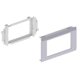 Adaptador 4 módulos Mosaic 45 color aluminio para canal Unex 65 en pvc