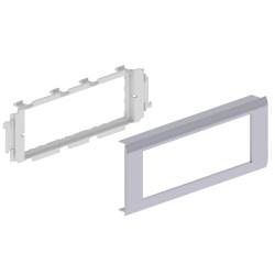 Adaptador 6 módulos Mosaic 45 color aluminio para canal Unex 65 en pvc