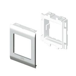 Adaptador 2 módulos Stylo color aluminio para canal Unex 65 en pvc